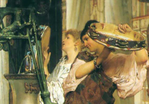 Sir Lawrence Alma-Tadema, The Vintage Festival (detail), 1870, Private collection.