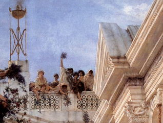 Sir Lawrence Alma-Tadema, Spring (detail), 1894, Paul Getty Museum, Los Angeles, California, USA.